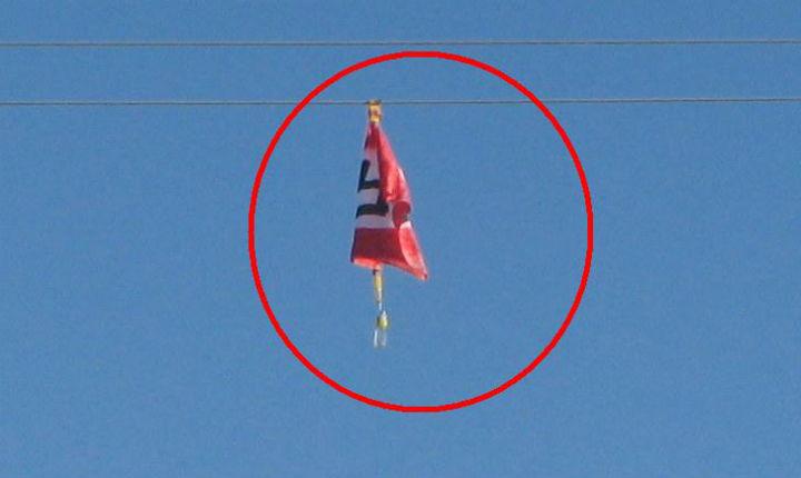 CQFD  : drapeau nazi chez les gentils voisins arabes de Judée-Samarie