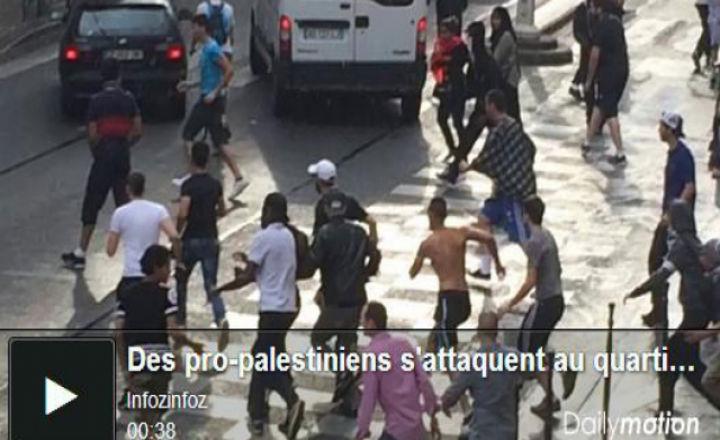 Rue des rosiers : des pro-palestiniens tentent d'attaquer le quartier juif (19/07/2014 vidéo)