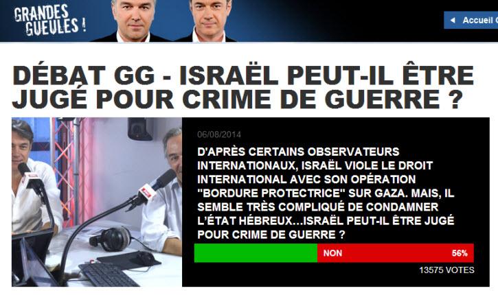 BFM TV s'adonne à la démagogie lèche babouche en proposant un sondage pour «juger Israël pour crime de guerre» !
