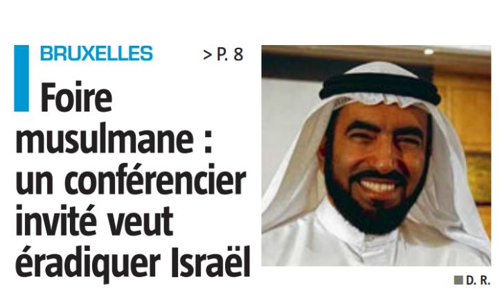 Al-Suwaïdan, frère musulman, prédicateur anti-occidental et anti-Israélien au programme de la foire musulmane de Bruxelles