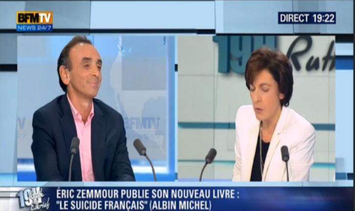 Eric Zemmour/ Ruth Elkrief : France, Vichy, antisémitisme arabo-musulman, féminisme (vidéo)