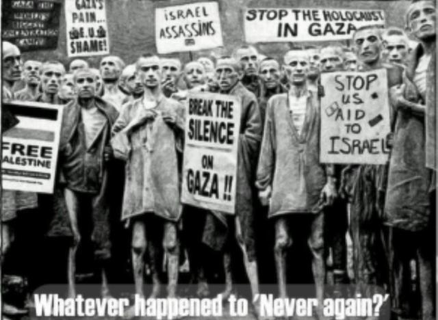 L'ignominie de BDS : présenter sur facebook des photos truquées de déportés juifs en camps d'extermination pour dénigrer Israël