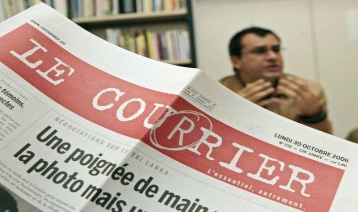 Réponse cinglante d'un lecteur à la désinformation du journal Le courrier (Suisse)