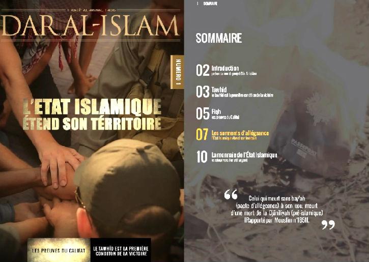 L'Etat islamique lance le magazine en français Dar Al-Islam – tribune de prédication et de recrutement de l'organisation