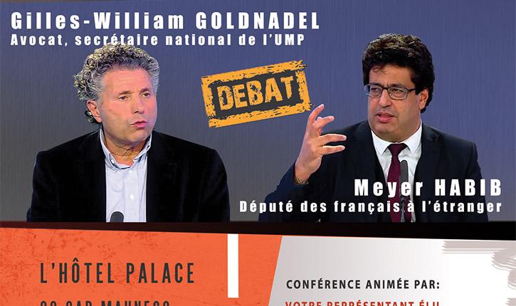 Conférence de Gilles-William Goldnadel et Meyer Habib le jeudi 1er janvier 2015 à Netanya