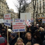 Manifestation contre le vote pour la Palestine