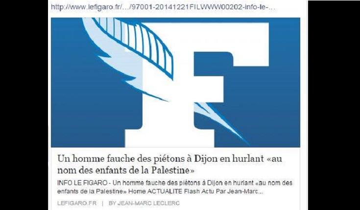 Après deux attentats, l'intifada islamiste a commencé en France ! Le gouvernement tente de nous faire croire qu'il s'agit de déséquilibrés…