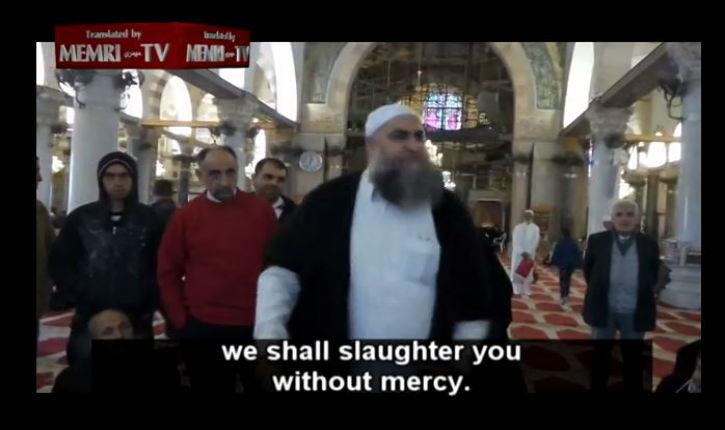 [Vidéo] Jérusalem, Mont du Temple : appel public au meurtre des juifs