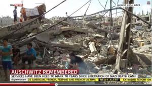 Antisémitisme de Sky News Gaza Auschwitz