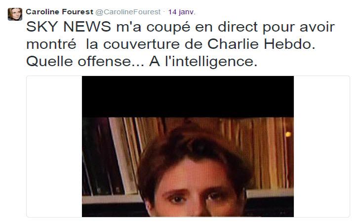 Caroline Fourest censurée par Sky News