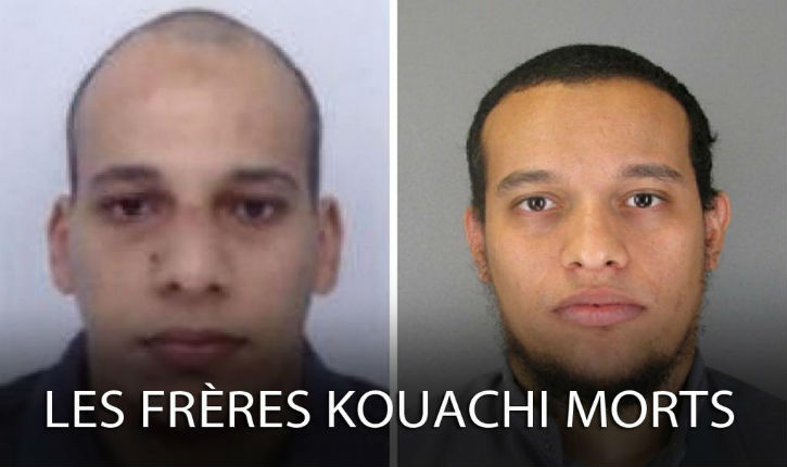 Les 3 jihadistes, Amedy Coulibaly et les frères Kouachi, sont morts dans les 2 assauts menés simultanément à Dammartin et Vincennes