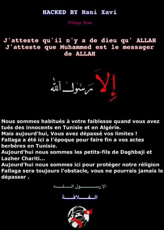 sites internet de l'académie Créteil hacké par islamiste