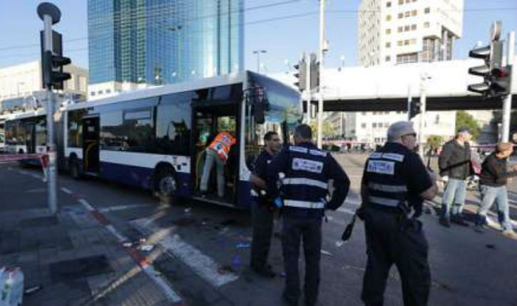Ynet»Attentat à l'arme blanche 21/01/2015 autobus Tel Aviv