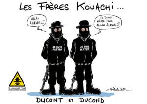 caricature des frères Kouachi par Ganan