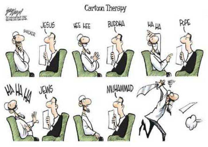 caricature islamistes