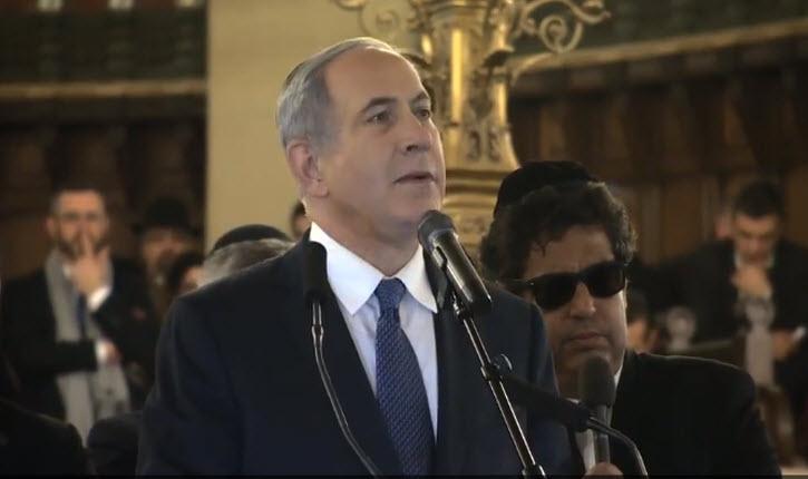 Attentats : Discours de Benjamin Netanyahu à la synagogue de la Victoire le 11 janvier 2015