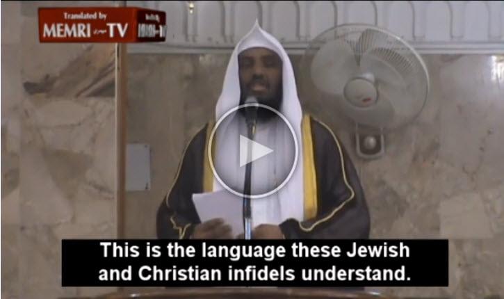Sermon d'un imam saoudien sur les attentats à Paris  «c'est le seul langage que les infidèles juifs et chrétiens comprennent»