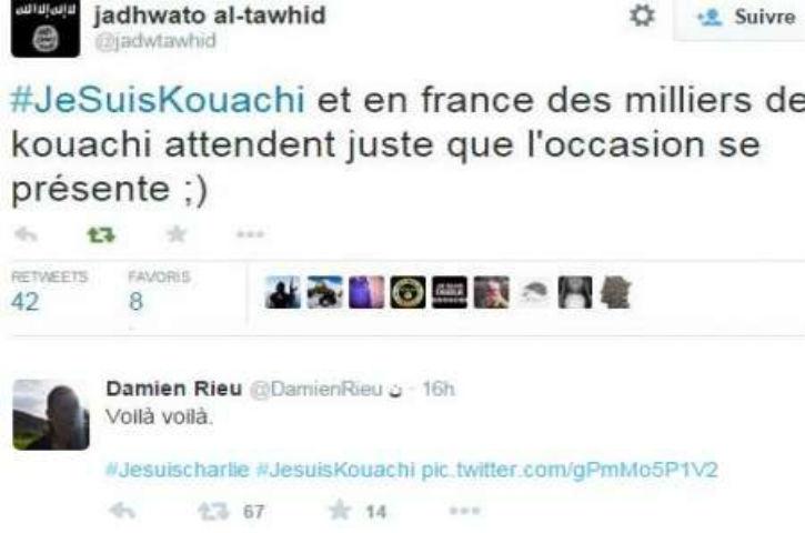 En Algérie, des islamistes ont célébré la tuerie de Charlie Hebdo, #JeSuisKouachi circule sur Twitter. «des milliers de kouachi attendent l'occasion»