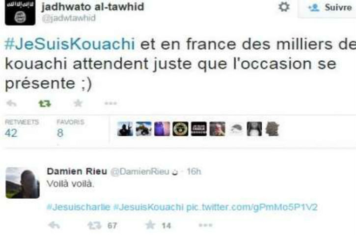 #JeSuisKouachi circule sur Twitter