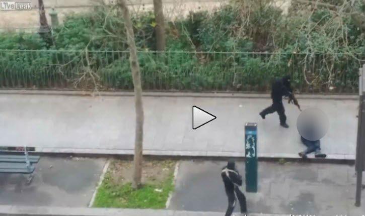 [vidéo] Attentat Charlie Hebdo: Les islamistes tuent à bout portant un policier blessé !