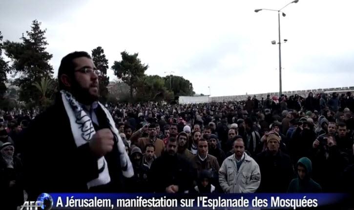 manifestation palestinienne « mort aux français » et contre Charlie Hebdo à Jérusalem