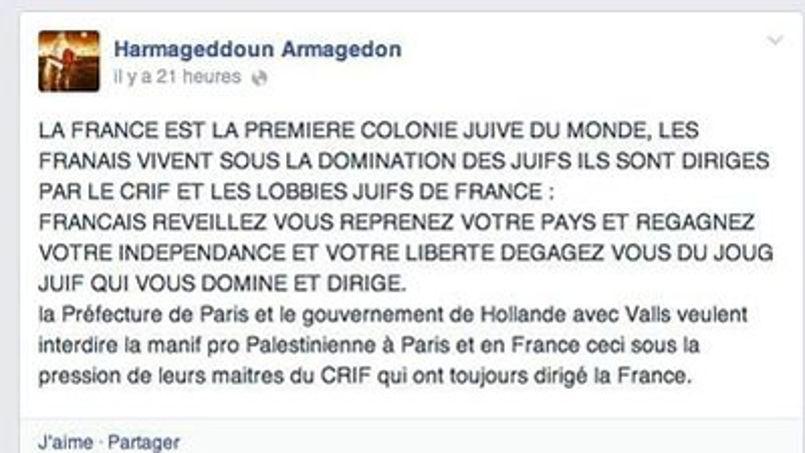 propos antisémites Asnières