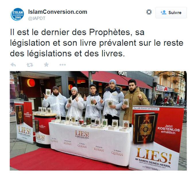 proxélytisme islamiste distribution de Coran à Paris