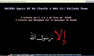 site hacké par islamistes