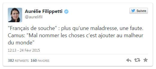 Aurélie Filippetti tweeta
