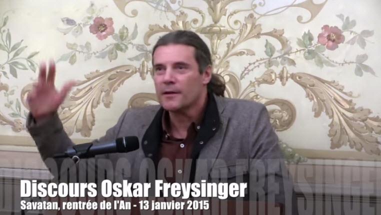 [Vidéo] Oskar Freysinger «Notre société démocratique est menacée dans ses fondements, notre civilisation est en péril»