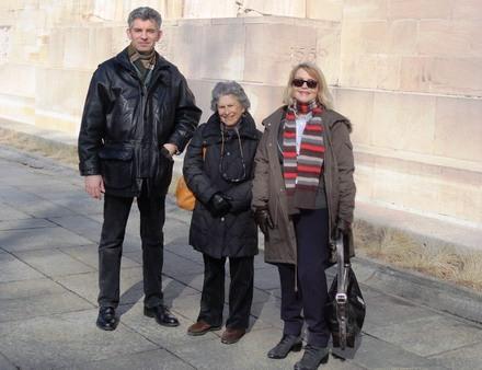 Autour de Bat ye'or, Alain Wagner et Nancy Verdier lors d'une rencontre à Genève.