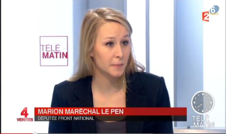 [Vidéo] Marion Maréchal-Le Pen défend le président du CRIF