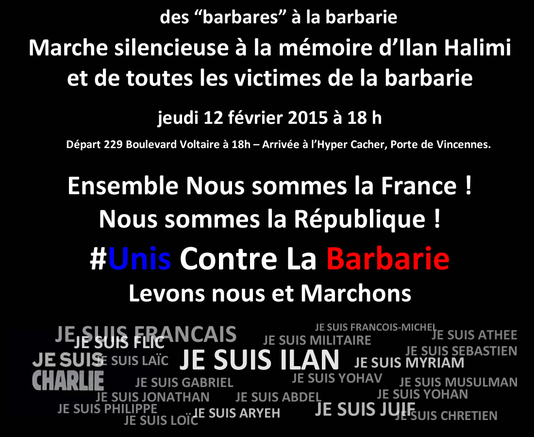 Marche silencieuse affiche