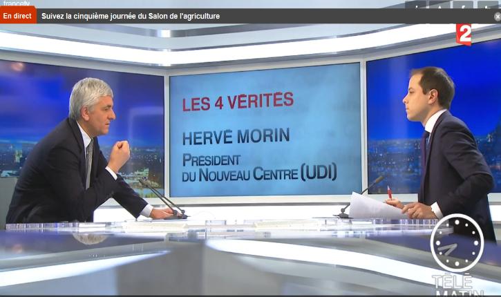 [Vidéo] Hervé Morin prédit «une guerre de religions» en France