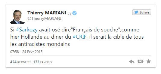 Thierry Mariani tweeta