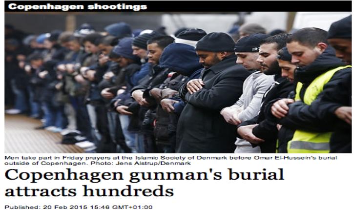 [Vidéos] Copenhague : affluence record à l'enterrement du terroriste palestinien