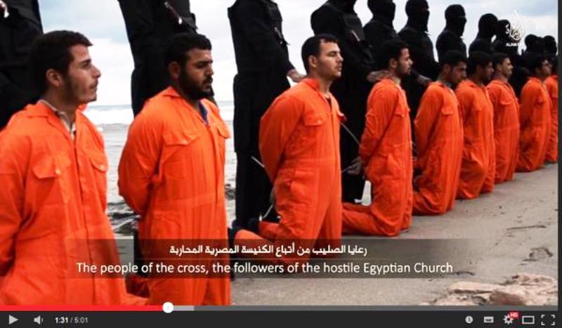 L'Egypte frappe des positions de l'Etat islamique en Libye après l'exécution de 21 otages coptes.