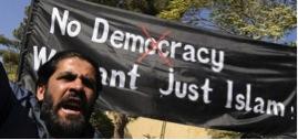 « Pas de démocratie, nous voulons juste       l'islam ! »