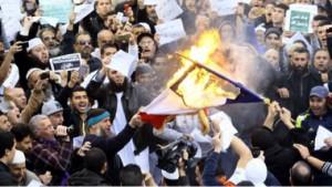 Manifestation à Alger contre les caricatures de Charlie Hebdo, vendredi 16 janvier 2015