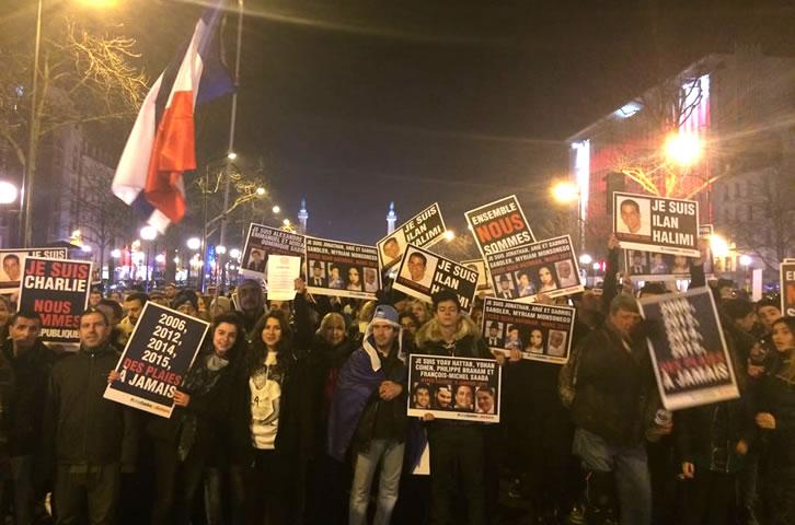 #UnisContreLaBarbarie: 2 000 personnes ont marché à la mémoire d'Ilan Halimi et de toutes les victimes de la barbarie