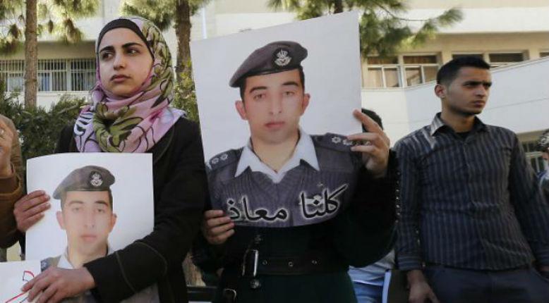 pilote jordanien brulé par Etat Islamique