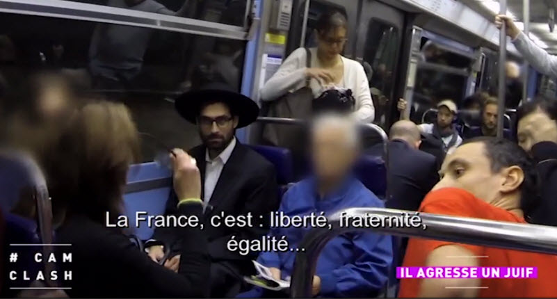 [Vidéo] Caméra cachée: un juif se fait agresser verbalement dans le métro et les passagers prennent sa défense