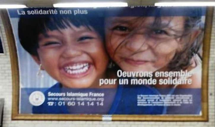Des affiches du «Secours Islamique France» dans le métro de la RATP font polémique