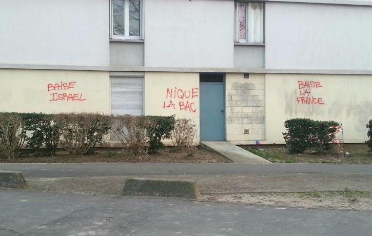 Valenton (94): Des tags antisémites, anti-France et contre la Police