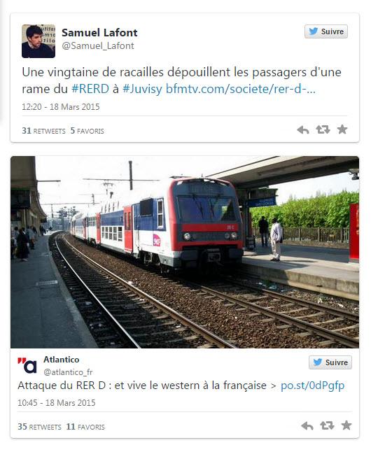 attaque du RER D Juvisy