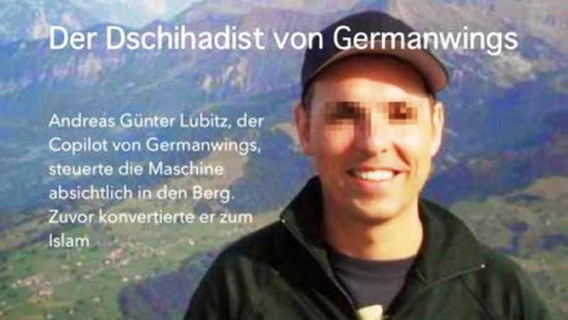 Selon un journaliste allemand, le co-pilote de l'Airbus Germanwings A320, serait un converti à l'Islam.