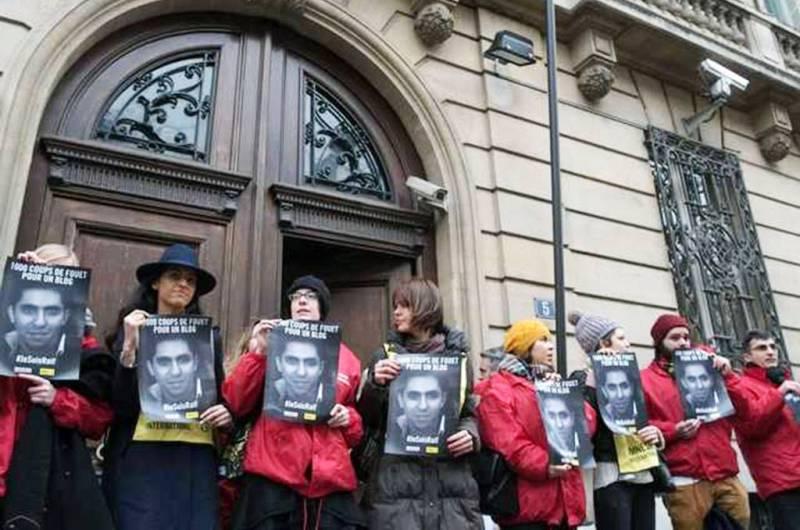 Manifestation en faveur de Raif  Badawi à Paris