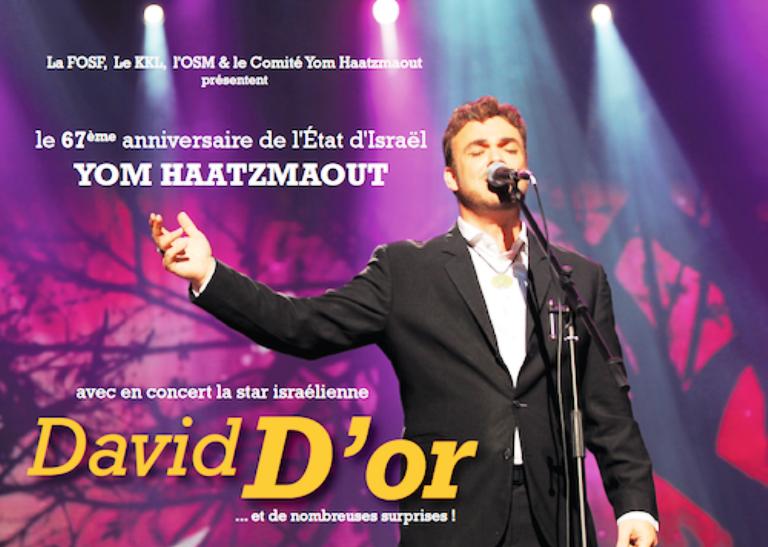 Yom Haatsmaout, mercredi 22 avril à 20h00 au Casino de Paris