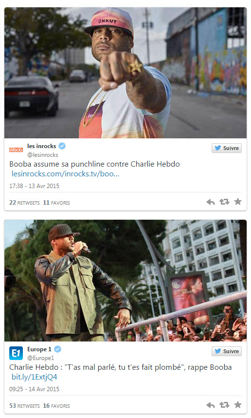 Booba contre Charlie Hebdo