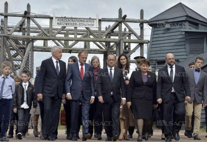 «L'antisémitisme et le racisme sont encore là» rappelle François Hollande lors d'une cérémonie au camp du Struthof